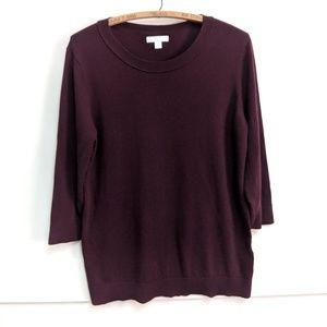 New York & Company Sweaters - New York & Company burgundy crew sweater Large